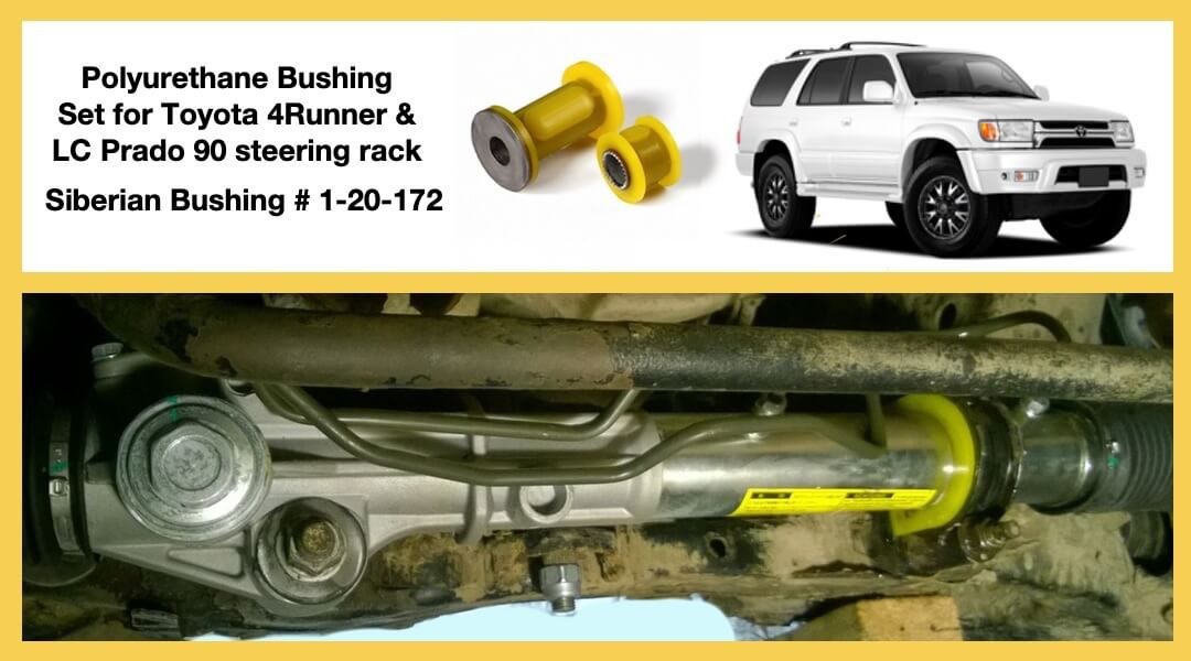 Removal & installation of the Bushings Set 1-20-172 for Toyota 4Runner 180, Land Cruiser Prado 90 steering rack