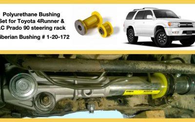 Removal & installation of the Bushings Set 1-20-172 for Toyota 4Runner 180, Land Cruiser Prado 90 steering rack