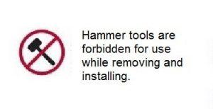 Hammer tools are forbidden diagram sb11