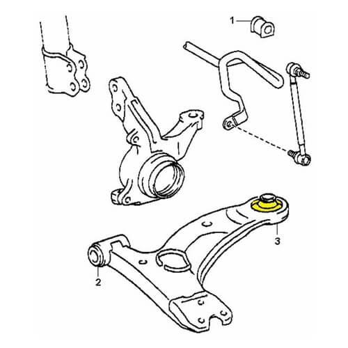 Polyurethane Bushing 1-06-1069 #3 on diagram