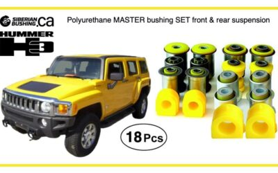 Polyurethane MASTER bushing Kit for 2005-2010 Hummer H3 now available on Siberian Bushing Canada