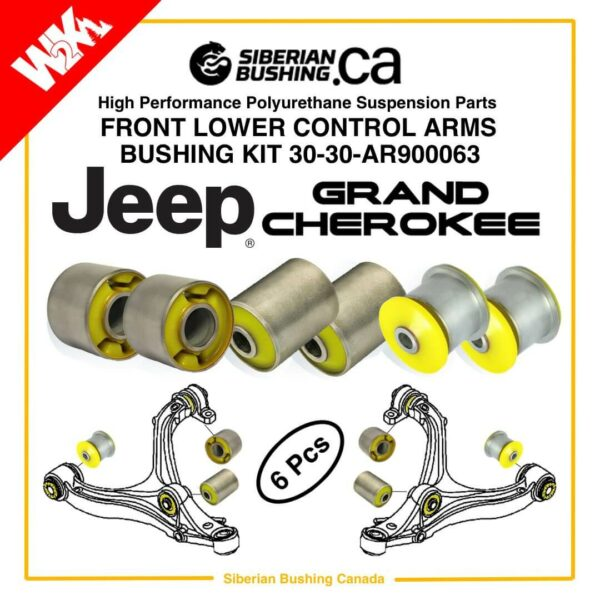 Jeep Grand Cherokee WK2 Dodge Durango Lower Control Arms KIT Siberian bushing 30-30-AR900063; MOPAR 5168158AB; 5168159AB